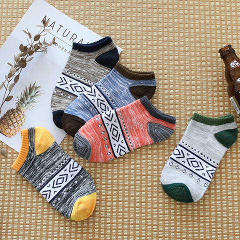 Autumn and winter Harajuku retro national wind men warm socks High-end brand fashion leisure soft and comfortable tube socks