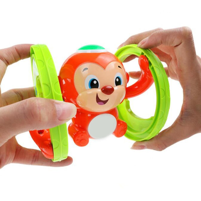 1 Pc Animal Clockwork Music Light Tumbling Baby Learning Crawling Educational Wind Up Toys for Children Funny Games Cute Gifts Classic & Retro Toys