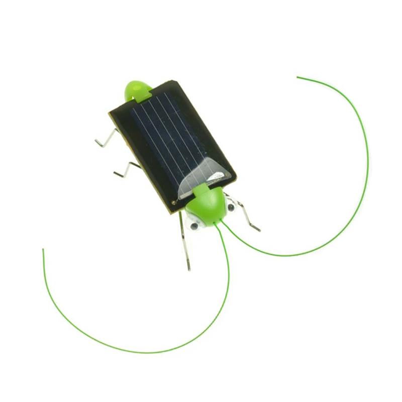 Costbuys  1 Pc Mini Solar Power Energy Crazy Grasshopper Toy Cute Cricket Educational Power Grasshopper Toy For Preschool Kids S