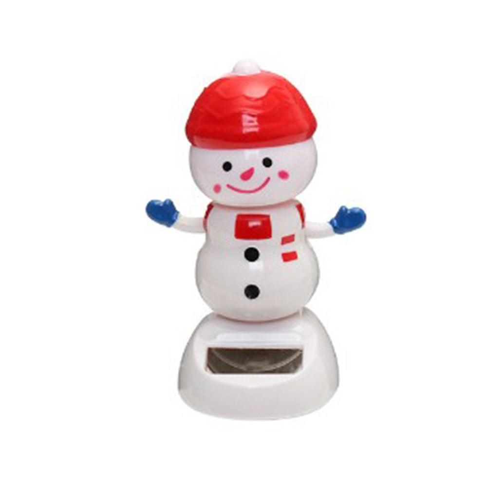 Costbuys  1 Pcs Cute Solar Powered Dancing Swinging Bobble Doll Toy Car Christmas Home Decoration Car Accessories - 2