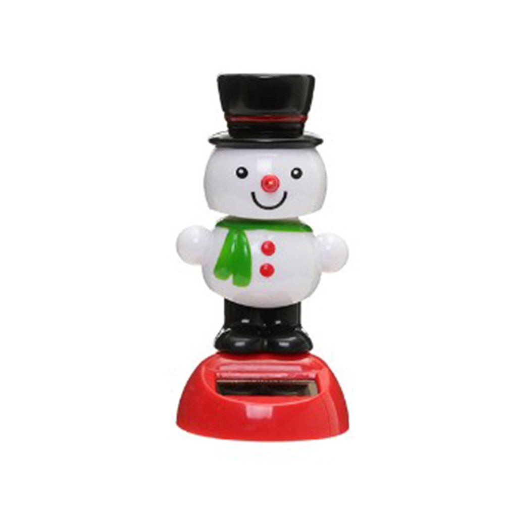 Costbuys  1 Pcs Cute Solar Powered Dancing Swinging Bobble Doll Toy Car Christmas Home Decoration Car Accessories - 6