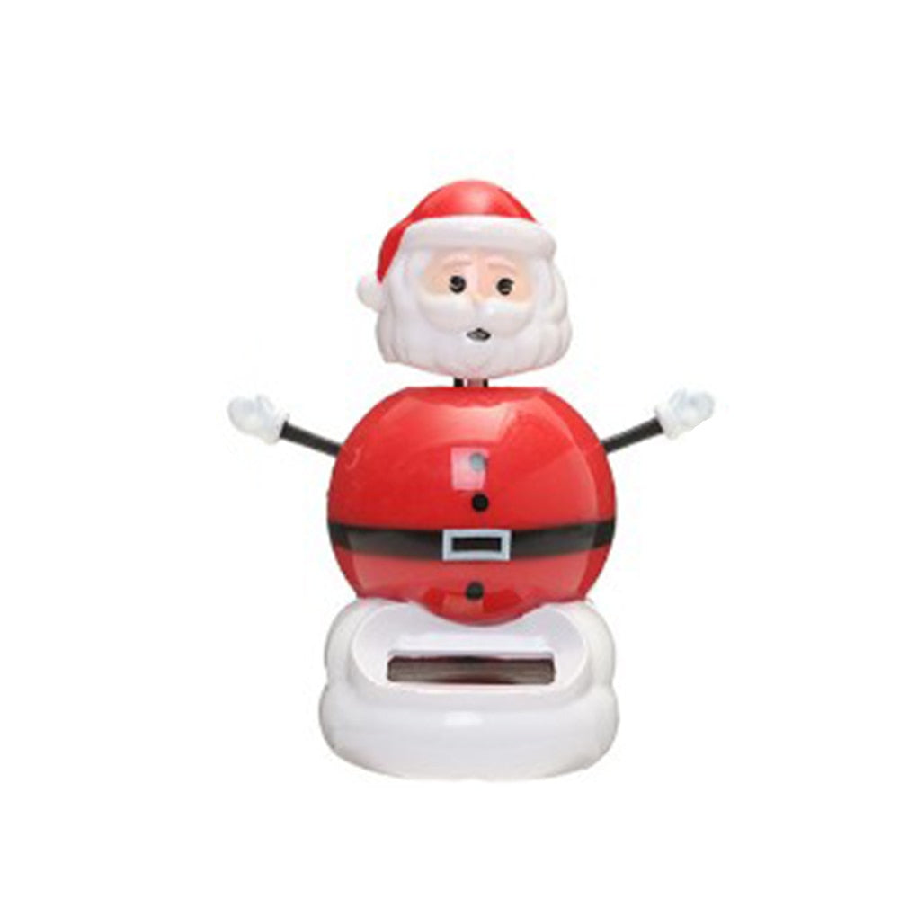 Costbuys  1 Pcs Cute Solar Powered Dancing Swinging Bobble Doll Toy Car Christmas Home Decoration Car Accessories - 8