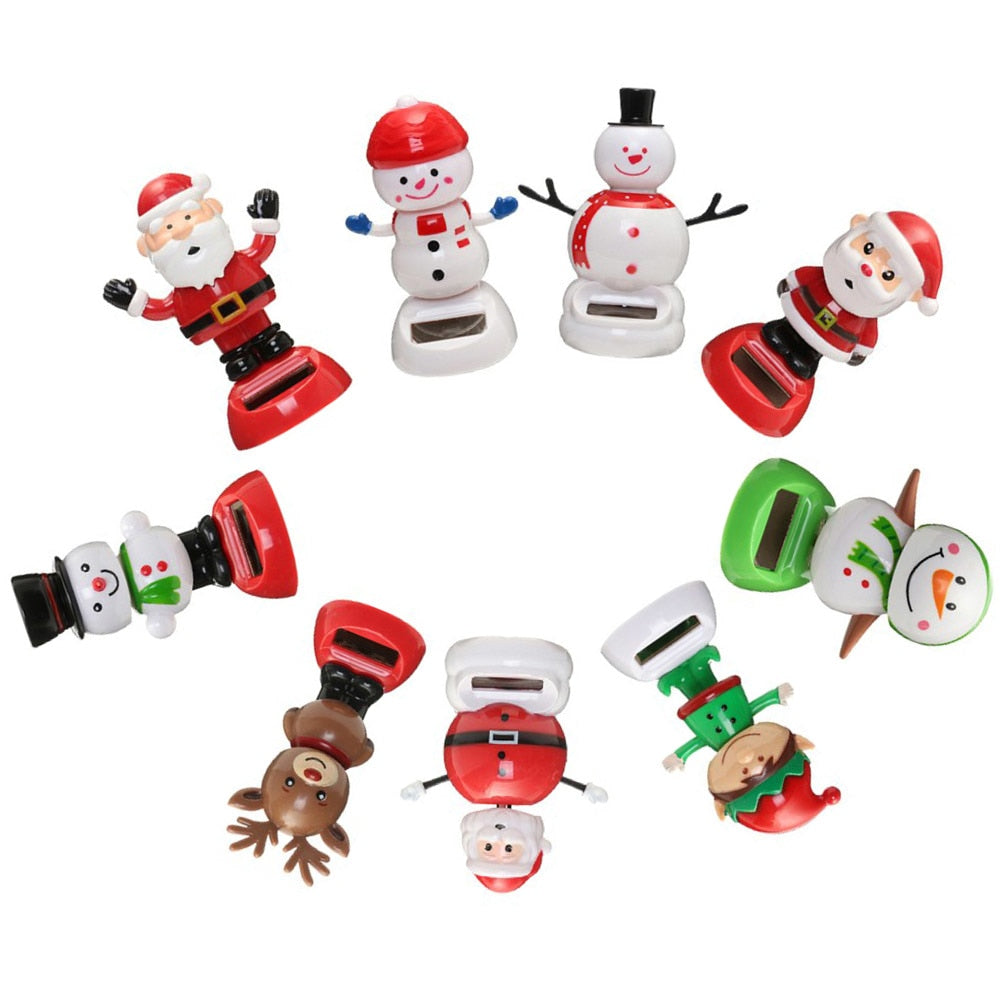 bfb8826e4d97a3 1 Pcs Cute Solar Powered Dancing Swinging Bobble Doll Toy Car Christmas  Home Decoration Car Accessories