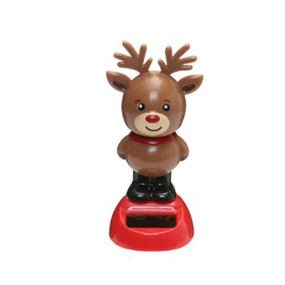 Costbuys  1 Pcs Cute Solar Powered Dancing Swinging Bobble Doll Toy Car Christmas Home Decoration Car Accessories - 7