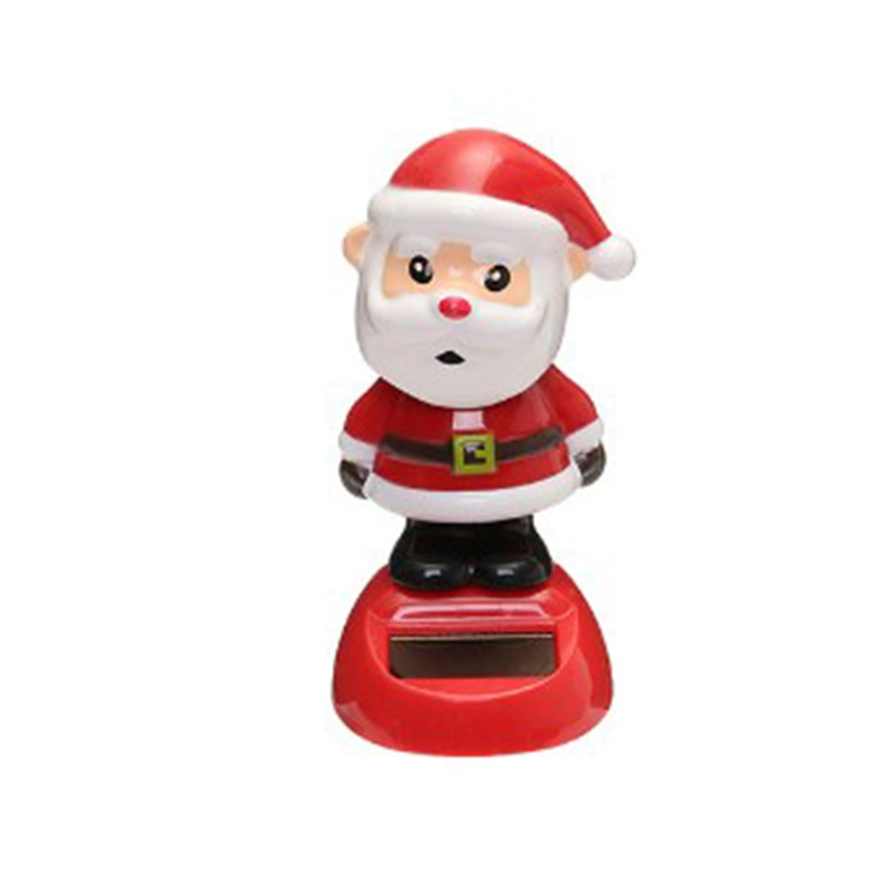 Costbuys  1 Pcs Cute Solar Powered Dancing Swinging Bobble Doll Toy Car Christmas Home Decoration Car Accessories - 4