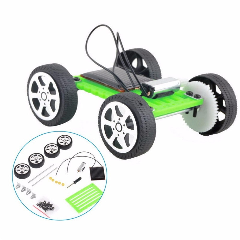 Costbuys  1 Set Mini Solar Powered Toy DIY Car Kit Children Educational Gadget Hobby Funny Toys For Kids Children