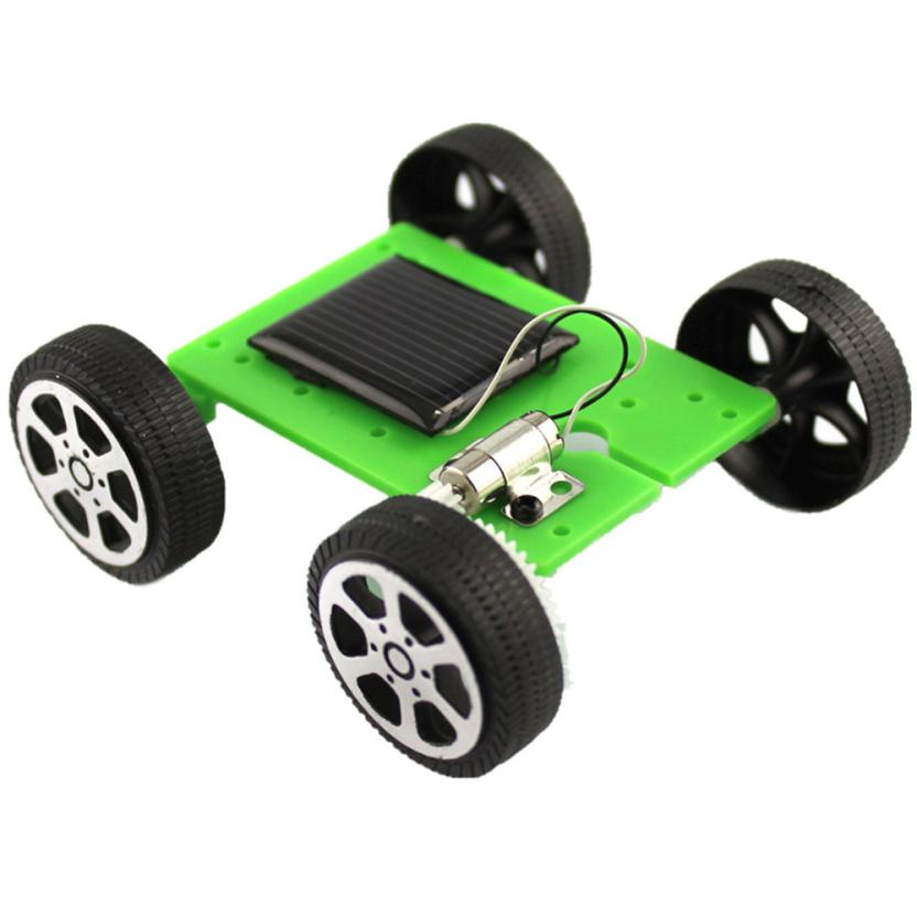 Costbuys  1 Set Mini Solar Powered Toy DIY Car Kit Children Educational Gadget Hobby Funny Toys gift t15 - as picture