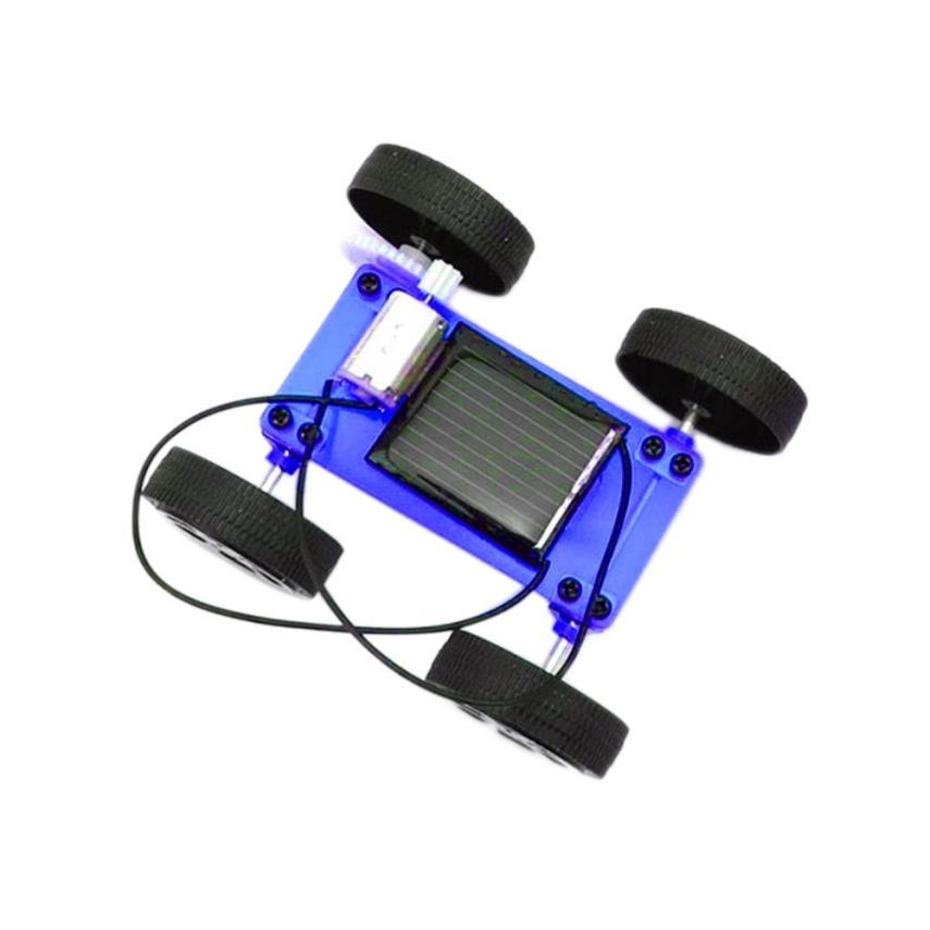 Costbuys  1 Set Mini Solar Powered Toy DIY Car Kit Children Educational Gadget Hobby Funny toy Cherryb - A