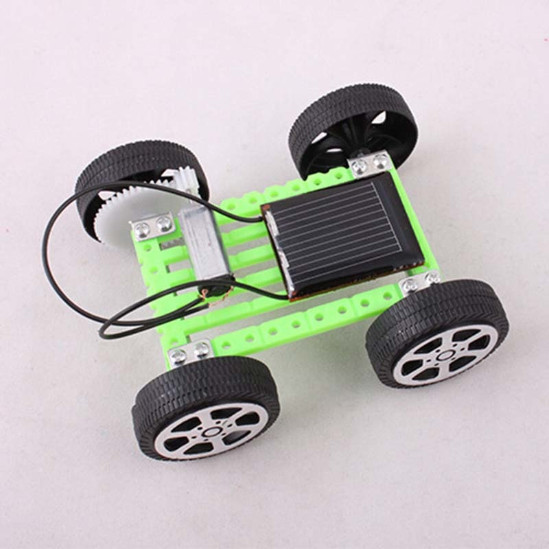 Costbuys  1 pcs Solar Power Mini DIY Toy Car Kit Robot Toy Moving Racer Children Educational Gadget Hobby Funny Solar Car Set
