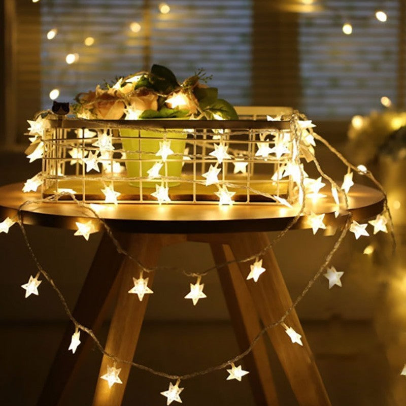 Costbuys  LED Star String Lights Twinkle Garlands Battery Powered Christmas Lamp Holiday Party Wedding Decoration Fairy Lights -