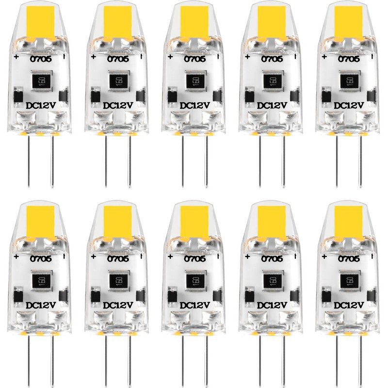 Costbuys  10 Pack Mini G4 COB LED Bulb 12V DC Dimmable Lampadas LED G4 Lamp Light Bulbs 360 Beam Angle Replace 15W Halogen For C