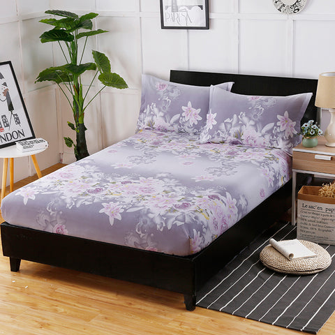 100% Pure Satin Silk Bedding Set Queen Size Bed Sheet Sets Bedclothes Solid Duvet Cover Set Sheet King Size Bedding Linens