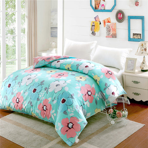 3PCS Set Duvet Cover Set 100% Yarn dyed Cotton Jersey Quilt Cover Japanese Style Stripe Design