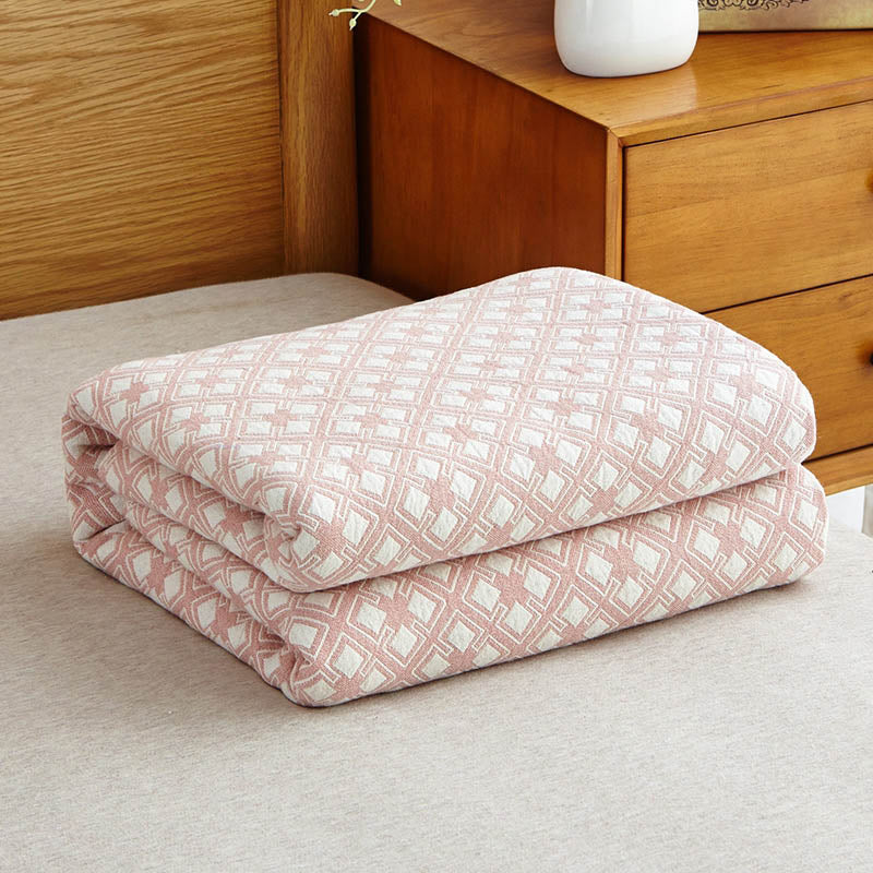 Costbuys  100% Cotton Washing gauze Towelling Coverlet/Blanket/Throw (Maze Plaid) towel Blankets Bedding set Quilt Sheet Sofa -