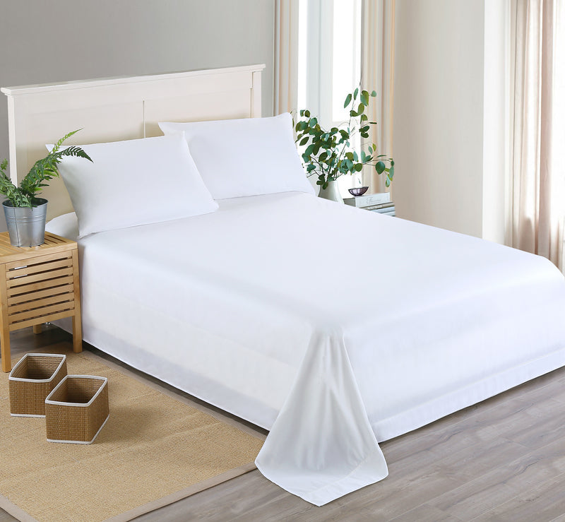 Costbuys  100% Polyester Factory Hot Sale Solid Color Flat Sheet and Fitted Sheet and Pillowcases Bedding Set Twin Queen King Be