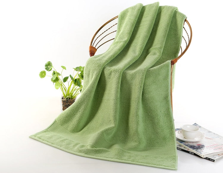 100% Cotton ultra thick towel solid color bath towel Comfortable ultra soft Skin-friendly water absorbing towel Nordic style
