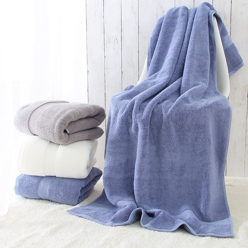 100% Cotton ultra thick towel solid color bath towel soft breathable water absorbing comfortable 800g large bath towel 80*160cm