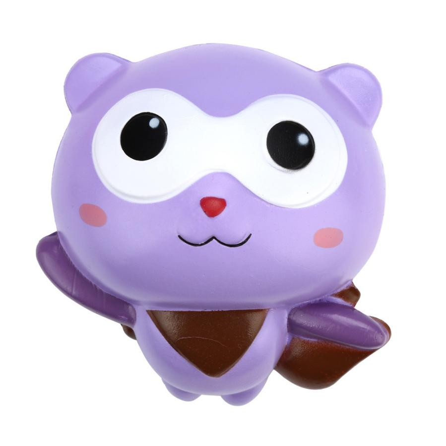 Costbuys  10cm Cute Panda Man Cartoon Scented Mochi Squishy Charm Slow Rising Squeeze Toy Charm PU prank rallies funny anti stre
