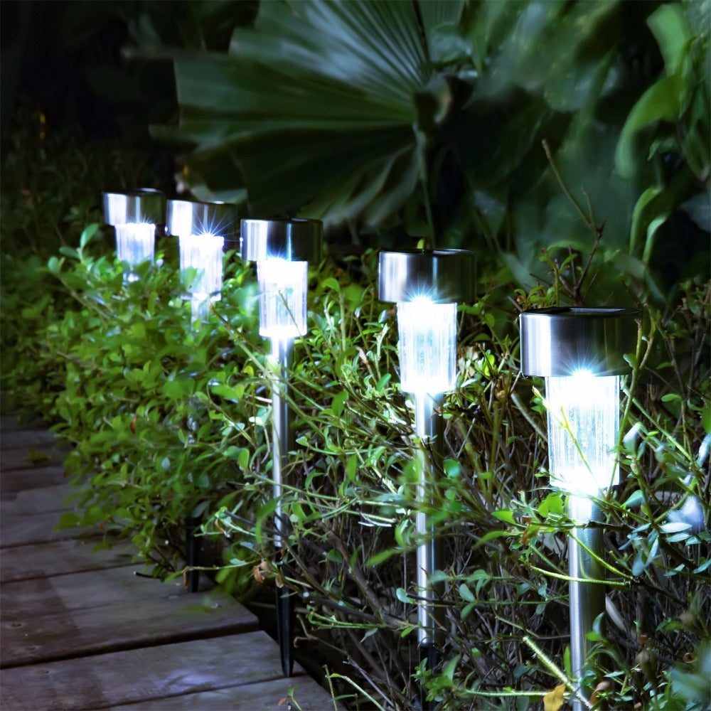 Costbuys  10pcs/5pcs/lot Solar-powered Lamp Solar Garden Light Stainless Steel Solar Lawn Light Outdoor Decorations for Courtyar