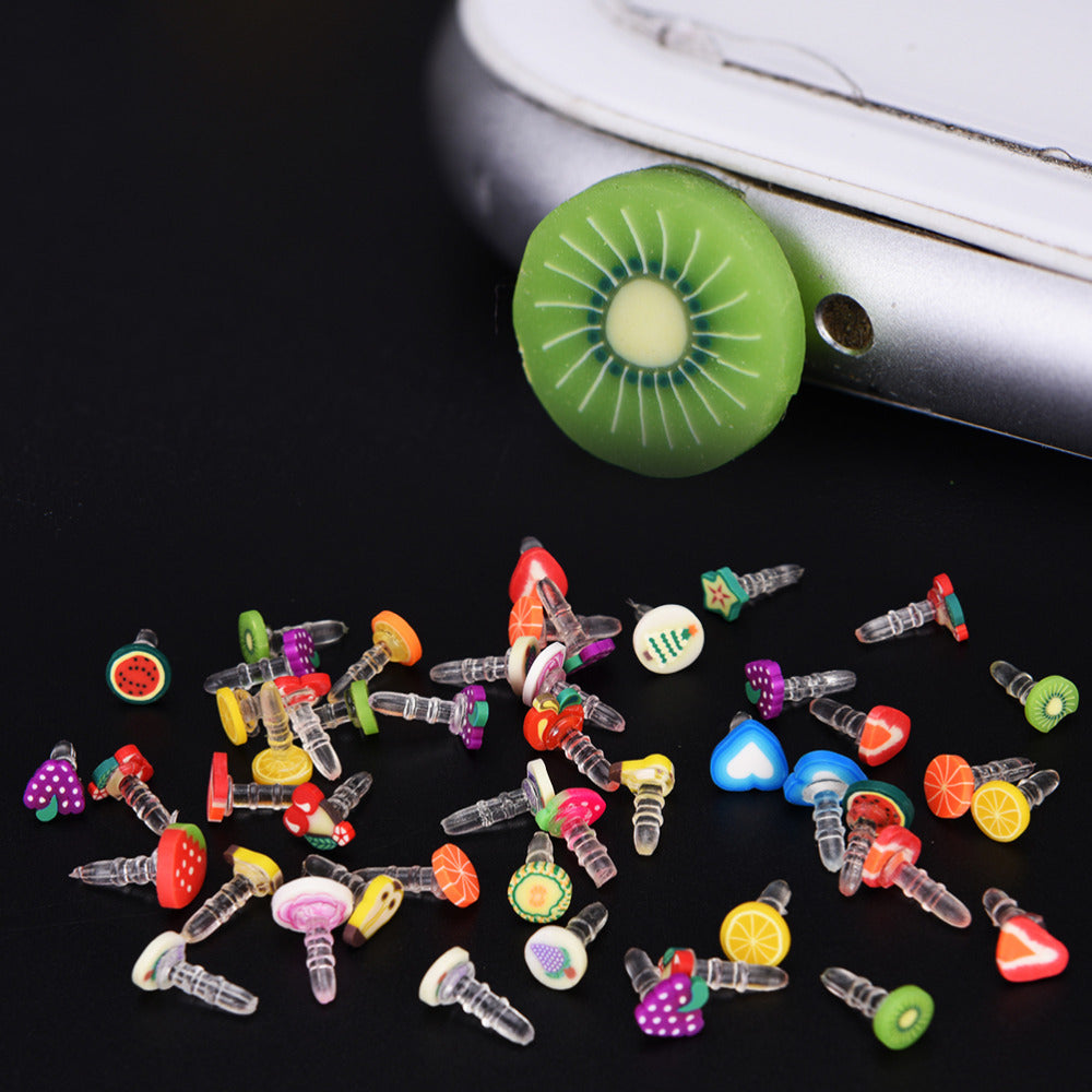 Costbuys  10pcs New Cute fruit Dustproof Plug Caps Cell Phone Accessories 3.5mm for Huawei iPhone LG Earphone Limited Dust Plug