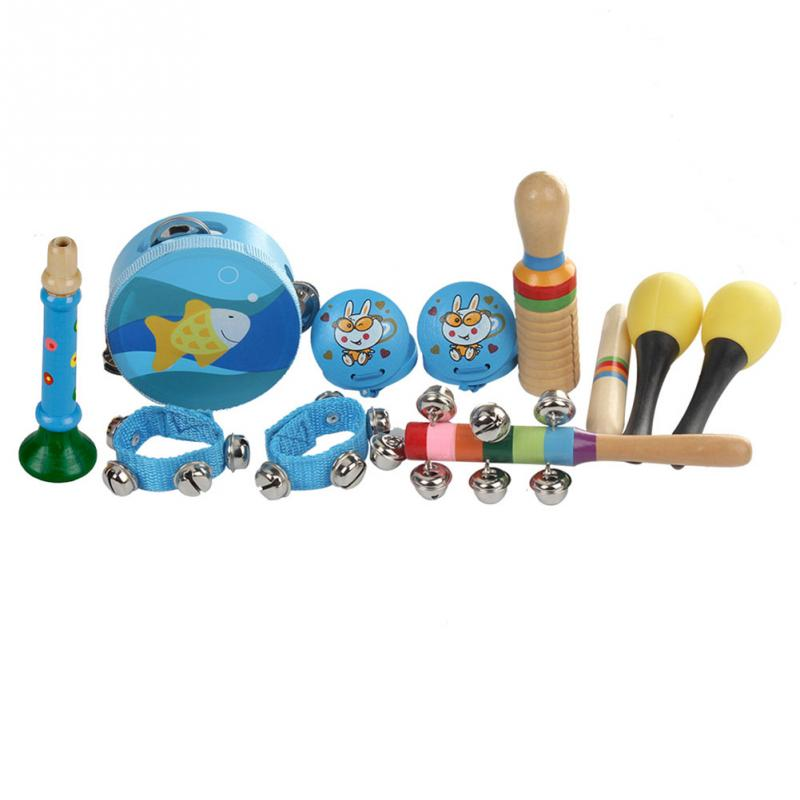 Costbuys  10pcs Orff Musical Instruments Set Children Early Childhood Music Percussion Toy Combination Kindergarten Teaching Aid