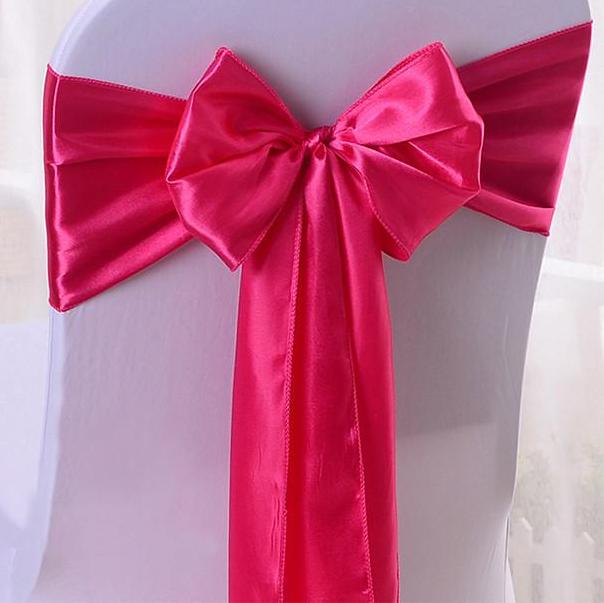 10pcs Satin Chair Sashes Banquet Chair Bows Chair Cover Satin Sash Ties For Hotel Event Wedding Decoration & 10pcs Satin Chair Sashes Banquet Chair Bows Chair Cover Satin Sash ...