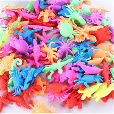 10pcs/lot Boys Girls Ocean Animal Magic Growing Toy Educational In Water Sea Creature Animals Bulk Swell Gift Kids Baby Toys Novelty & Gag Toys