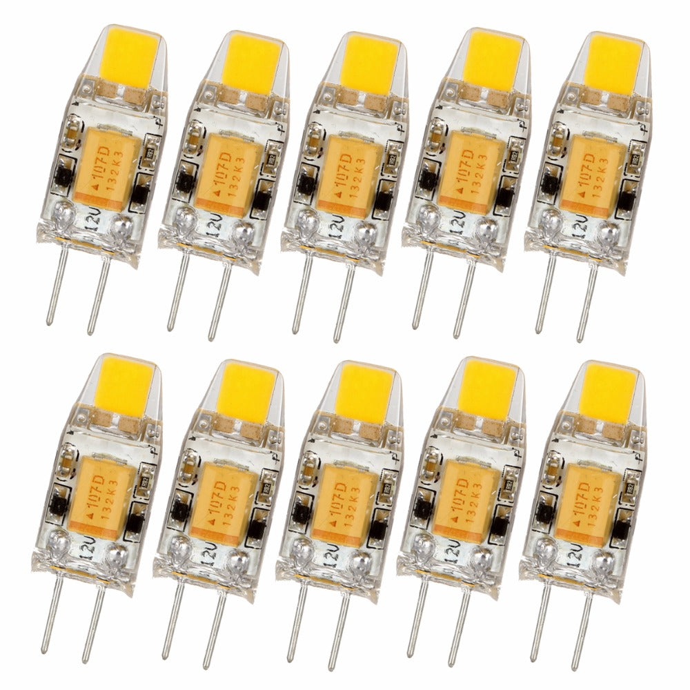 Costbuys  10pcs/lot Mini G4 LED Lamp 3W DC/AC 12V LED G4 Light Dimmable Capsule LED COB Bulb Replace Halogen Chandelier Lamps -