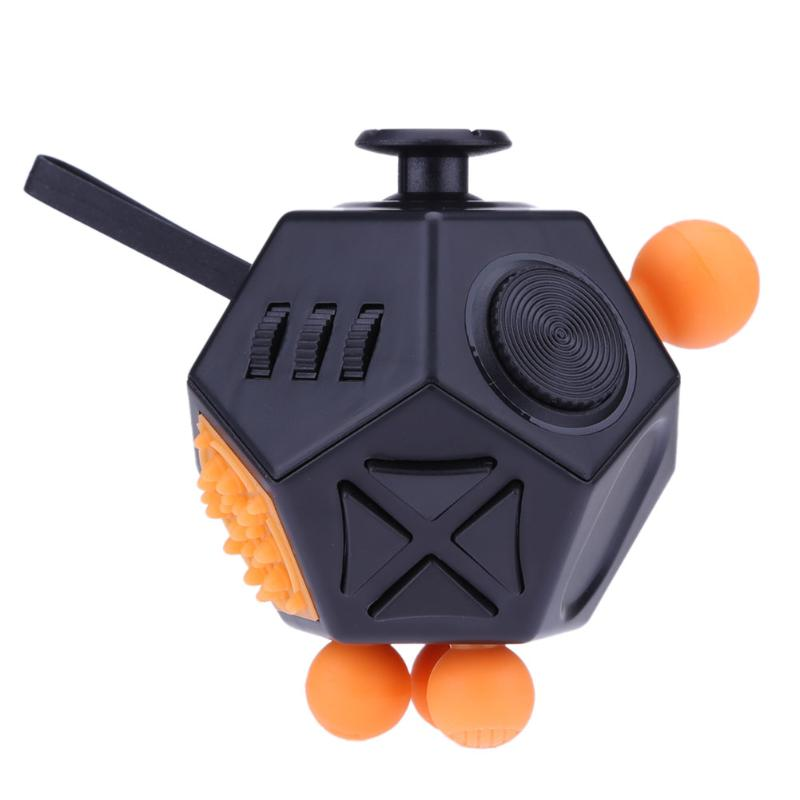 Costbuys  12 Side Magic Cube Generation 2 Fidget Cube Squeeze Fun Stress Reliever New Decompression Toy for Adult Children Kids