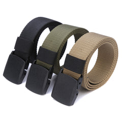 120cm/3 Color Automatic Buckle Nylon Belt Male Army Tactical Belt Men Military Waist Canvas Belts Cummerbunds High Quality Strap