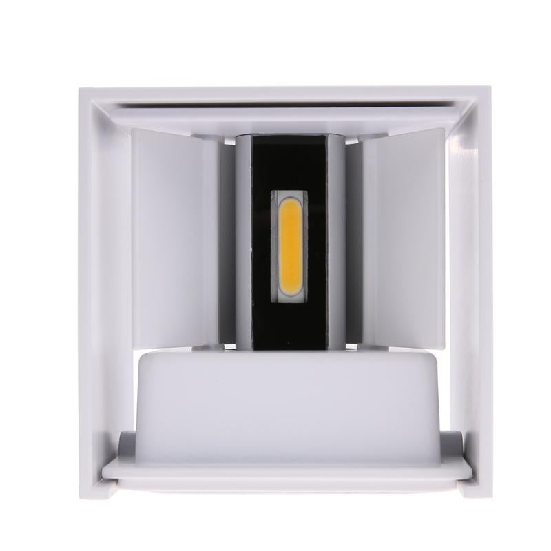 Costbuys  12W 85-265V COB LED Wall Lamp Indoor Outdoor Simple Style Aluminum Wall Lights for Bedroom Hallway Porch Balcony Home