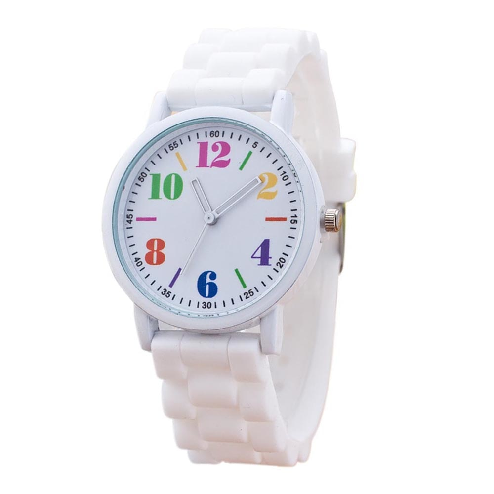 Costbuys  Casual Watch watch 7color men women Analog wristwatches Sports Watches Silicone watches - White