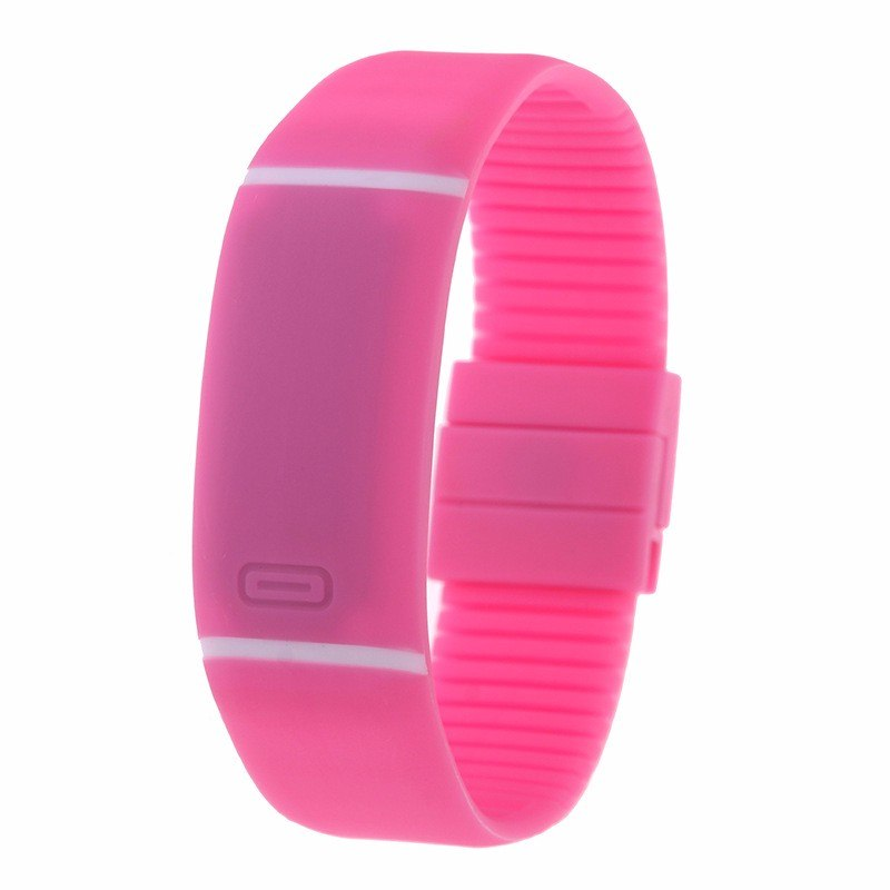 Costbuys  LED watch Women Men hand ring Sports Watches Fashion Touch Screen Digital watches For Boy Girl Silicone - Pink