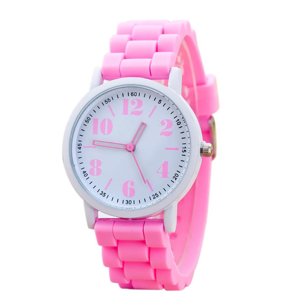Costbuys  Casual Watch watch 7color men women Analog wristwatches Sports Watches Silicone watches - Pink