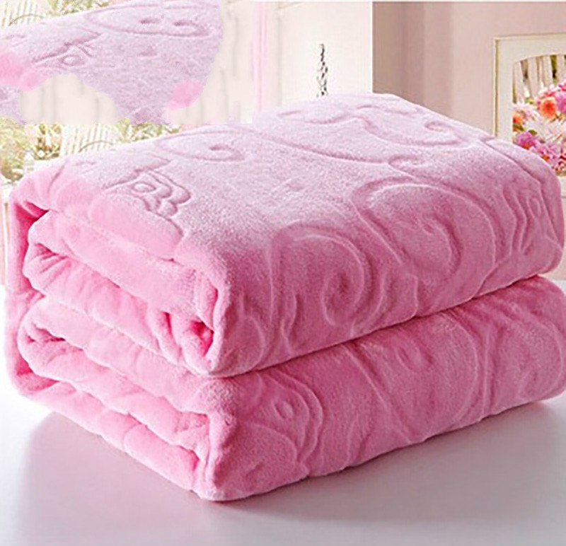 Costbuys  Flannel Fabric Wool Warm Blanket Soft Blanket Bed Travel Blanket Large Bed Single Bed - 07 / 150cmx200cm