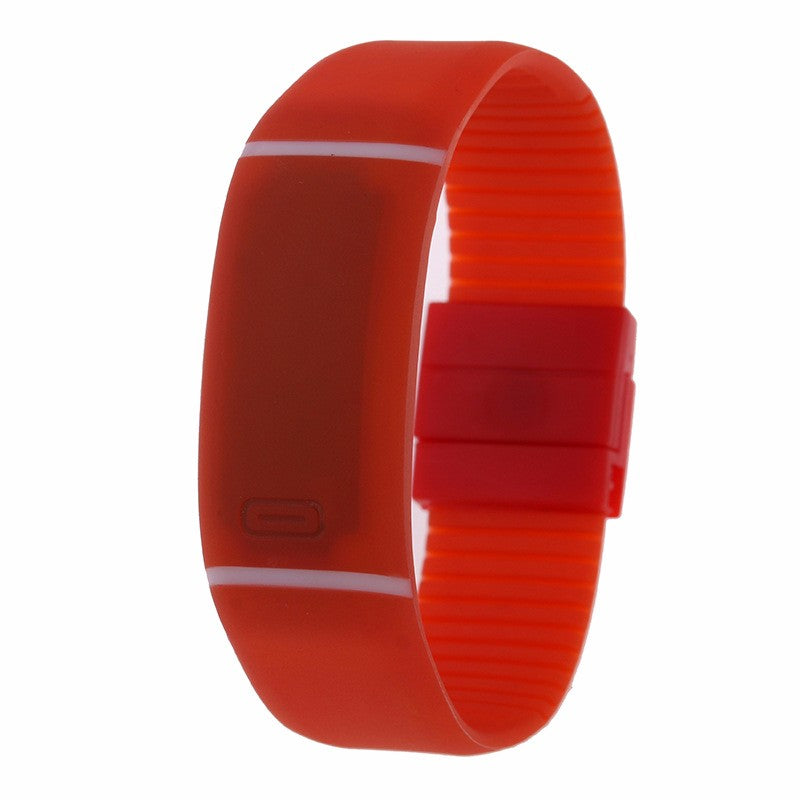 Costbuys  LED watch Women Men hand ring Sports Watches Fashion Touch Screen Digital watches For Boy Girl Silicone - Red