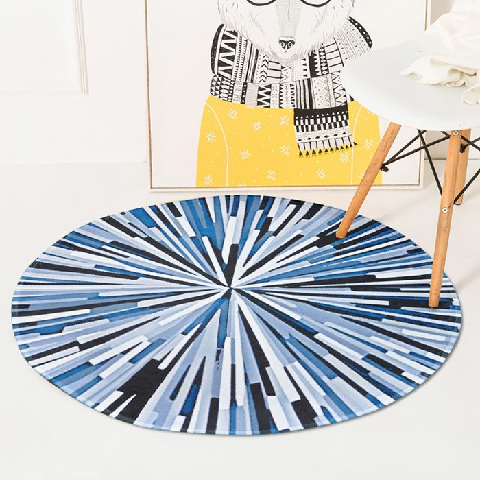 Costbuys  Splash Abstract Round Carpet Bedroom Computer Chair Rug Living Room Coffee Table Carpets Kids Room Game Mat - 3 / diam