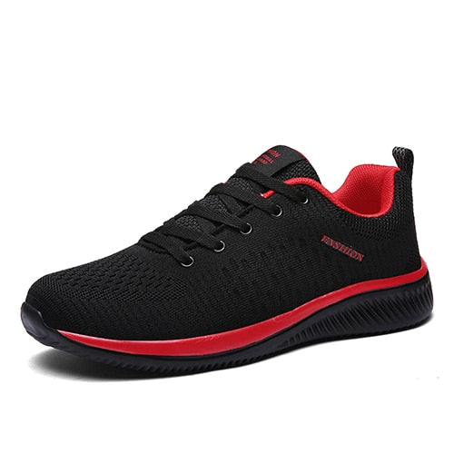 Costbuys  Breathable Light Running Shoes Men Sneakers Sport Shoes City Run Professional Training Shoes - Black red / 11
