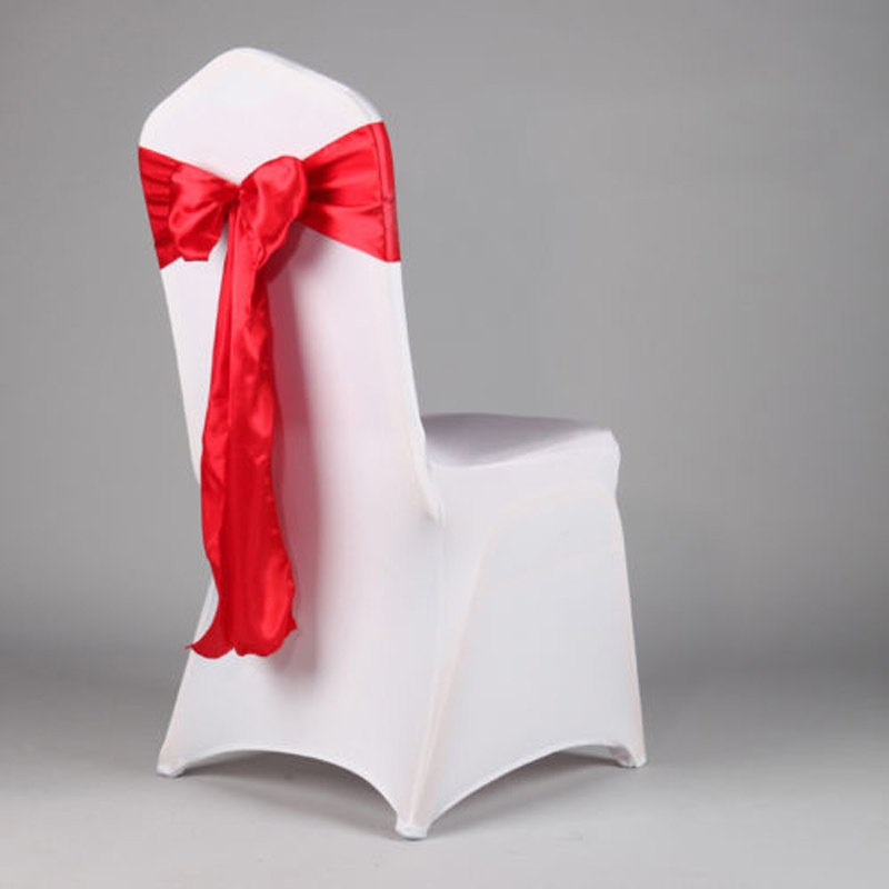 10PCS Chair Cover Sash Bow Wedding Anniversary Party Decoration Bows