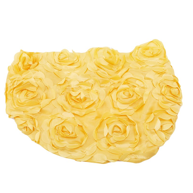 Costbuys  1pc Fashion Banquet Christmas Decoration Chair Rose Flower For Banquet Wedding Party Cover Chair Sashes - Yellow / 33