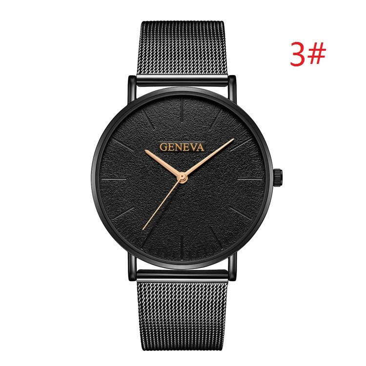 Costbuys  Women's Watch Ladies Watches For Women Rose Gold Watch Women Simple Bracelet Montre Femme - black 3 / China