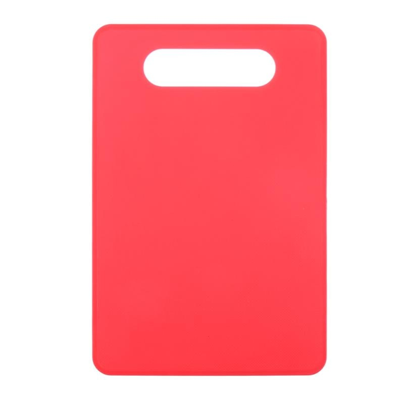 Costbuys  Non-slip Cutting Board Anti Bacterium Plastic Chopping Board Hang Hole Food Slice Cut Chopping Block Kitchen Tools - R