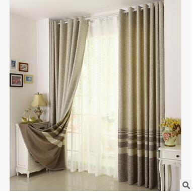 Costbuys  Cotton Linen striped Modern Luxury Window Curtains for Living Room Kitchen Black Curtain French Window Treatments Grom