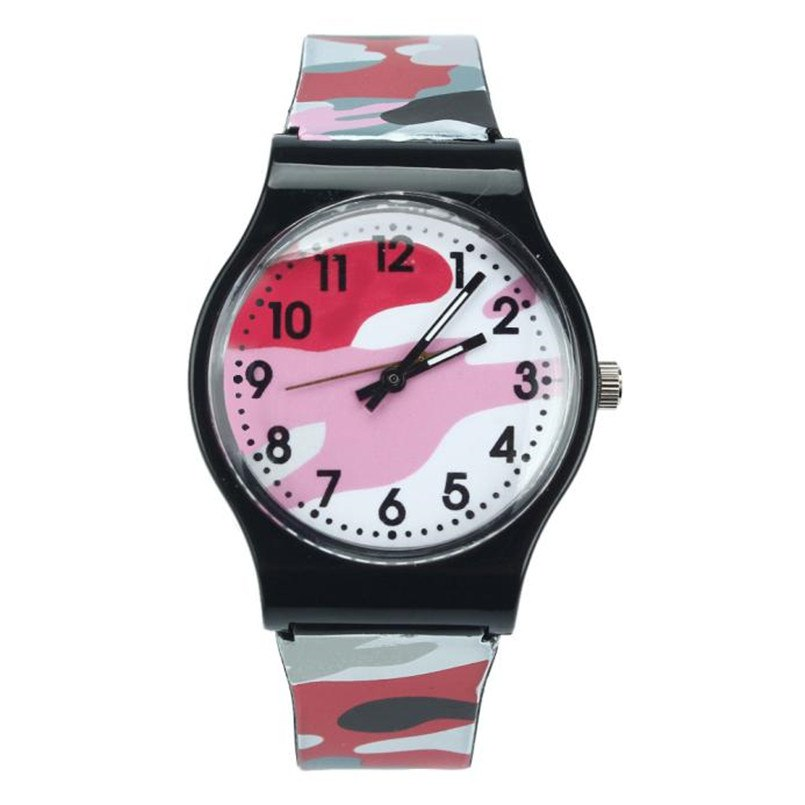 Costbuys  Children Students Watch Children Watch Quartz Wristwatch For Girls Boys Best Gift - Red