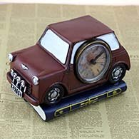 Costbuys  Car Radio Resin Furniture Craft Ornaments Bar Coffee Clock Home Decoration Accessories - red car