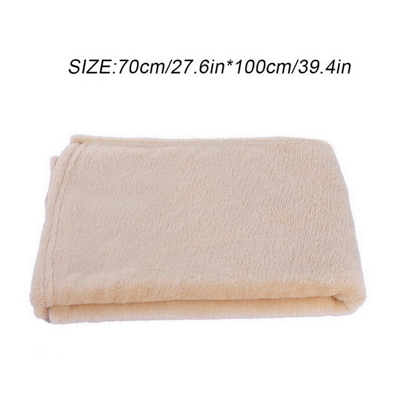 Costbuys  Throw Sofa Bed Travel Blanket Living Room Solid Flannel Blanket For Bedding Quilt Play Pure Camel Super Warm Soft Blan