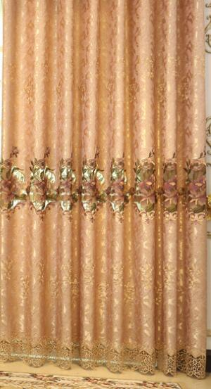 Costbuys  Fine Embroidered Luxury Floral Valance Curtains For living Room Bedroom Tulle Window Treatment Drapes Home Decor - Cur