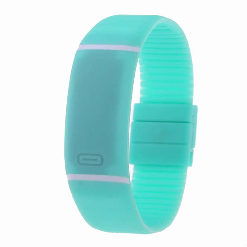 Costbuys  LED watch Women Men hand ring Sports Watches Fashion Touch Screen Digital watches For Boy Girl Silicone - Mint Green