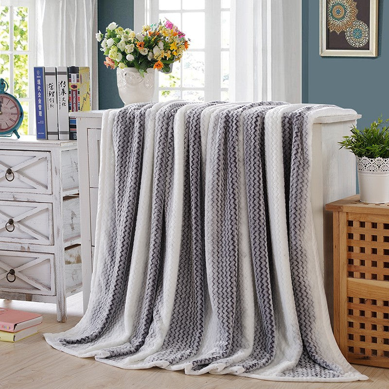 Costbuys  Blanket bed single bed bed queen king flannel wool fabric sofa throw blanket adult super soft blanket - 01 / 150cmx200