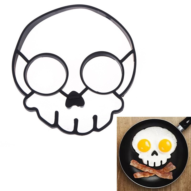 Costbuys  Silicone Egg Mold Lovely Cats Skull Owl Face Shape Egg Mold Breakfast Fried Eggs Tools Interesting Kitchen Cooking Gad